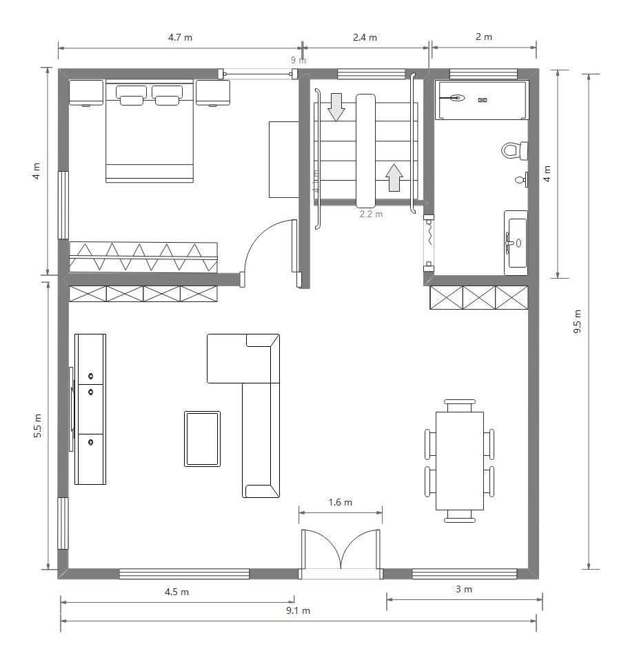 农村别墅1楼设计图