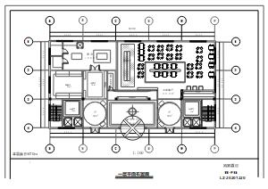 酒店一层平面布置图