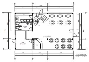 餐厅一层平面布局图