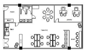 办公室装修平面图