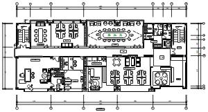 大型办公室平面图