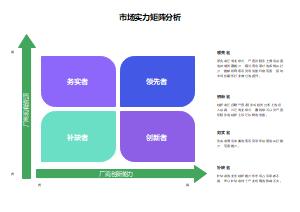 市场实力矩阵分析图