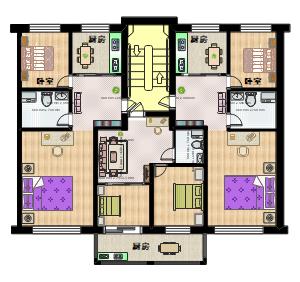 70平米家居平面图设计