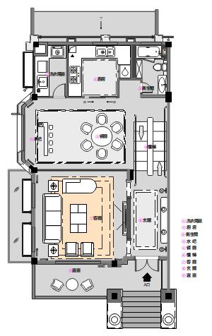 欧式别墅平面设计