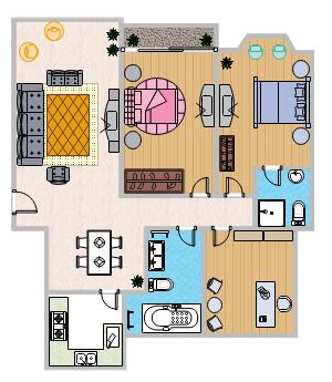 彩色家庭计划模板