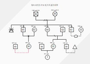 随年龄变化的家庭关系基因组图