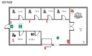 办公场所消防平面图