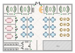 餐厅楼层平面图