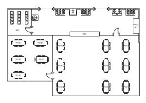 学生食堂平面布置图