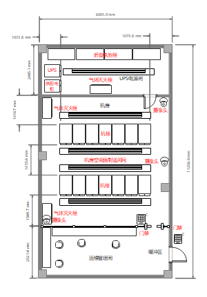 机房平面图