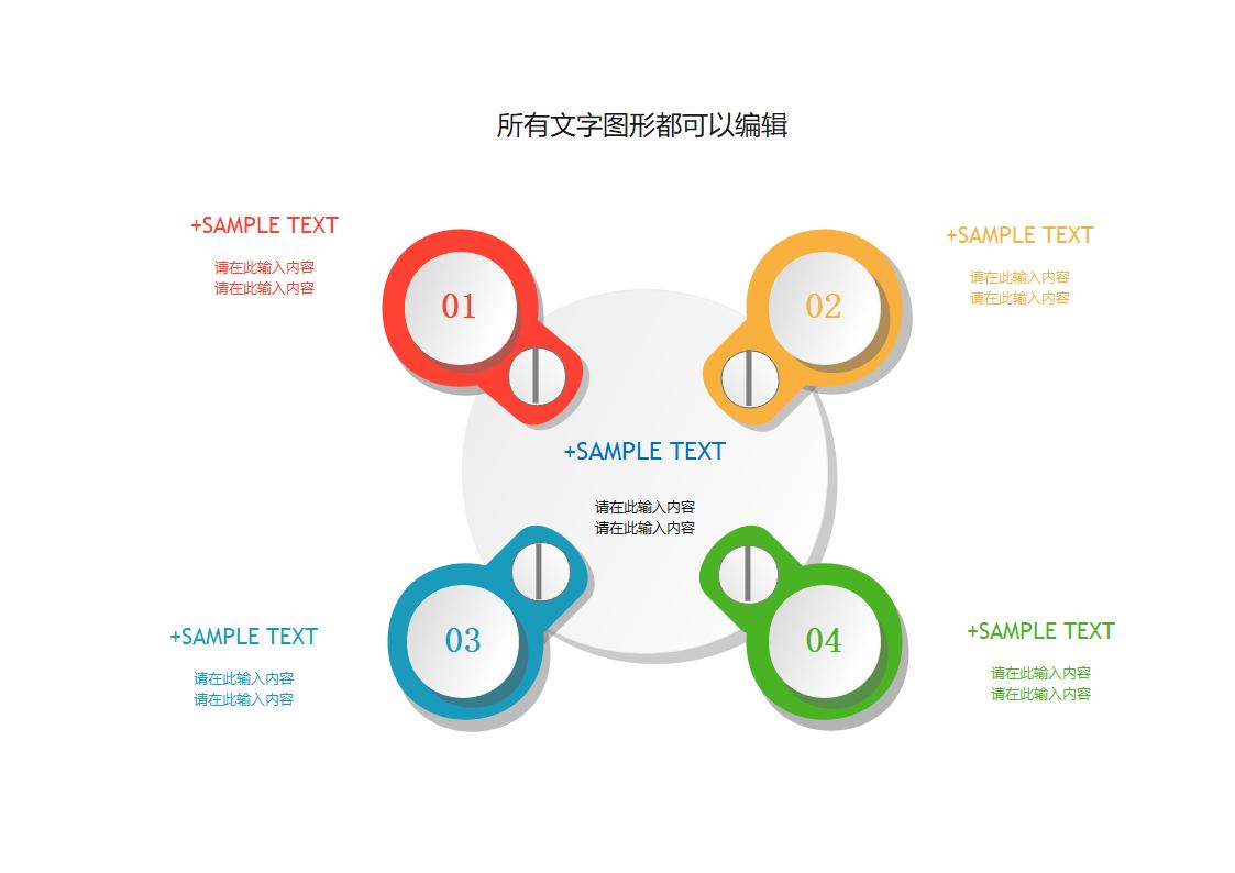 商业流程圆形图