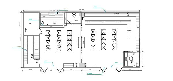 零售单体药店规划布局房屋平面图