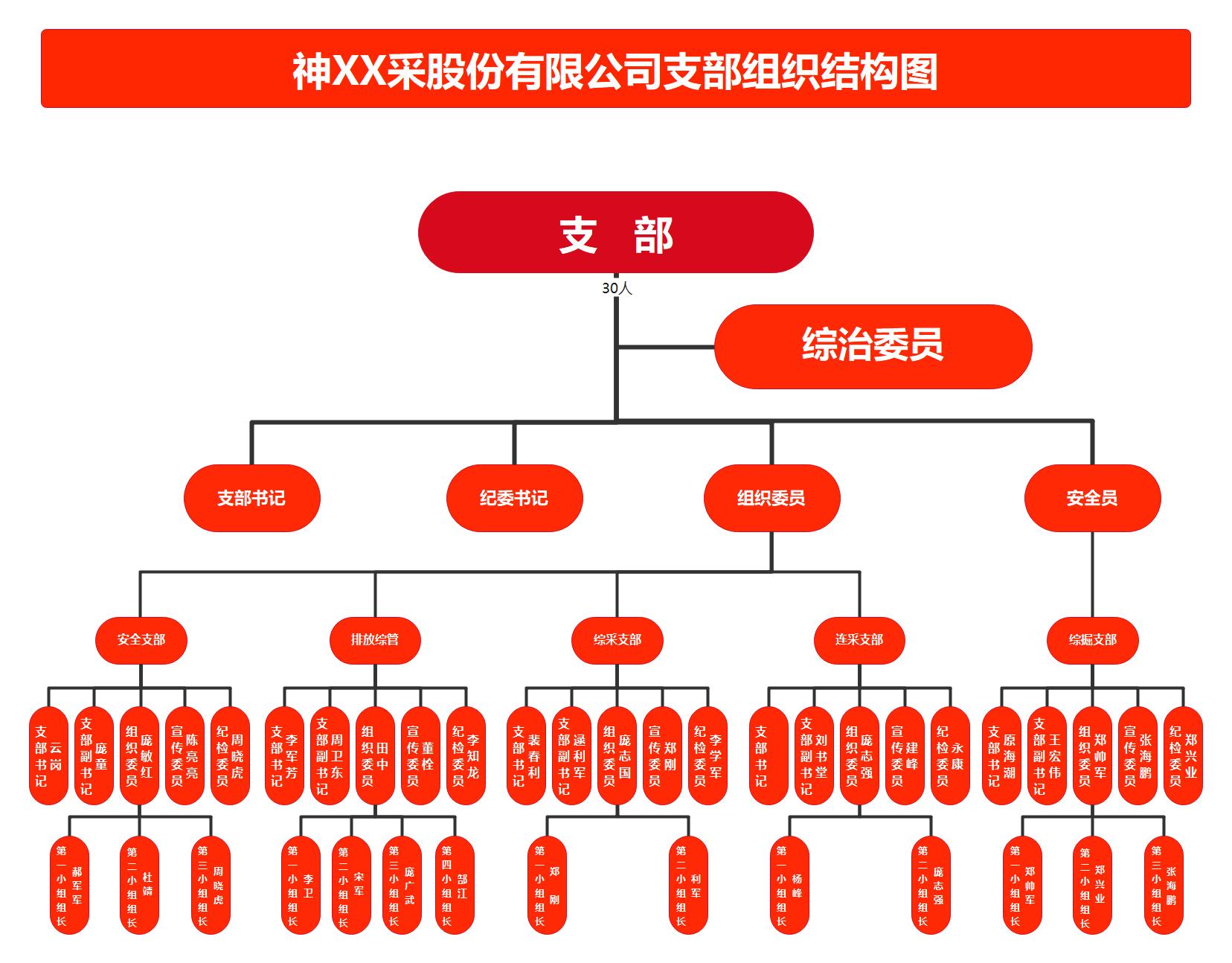 公司支部组织结构图