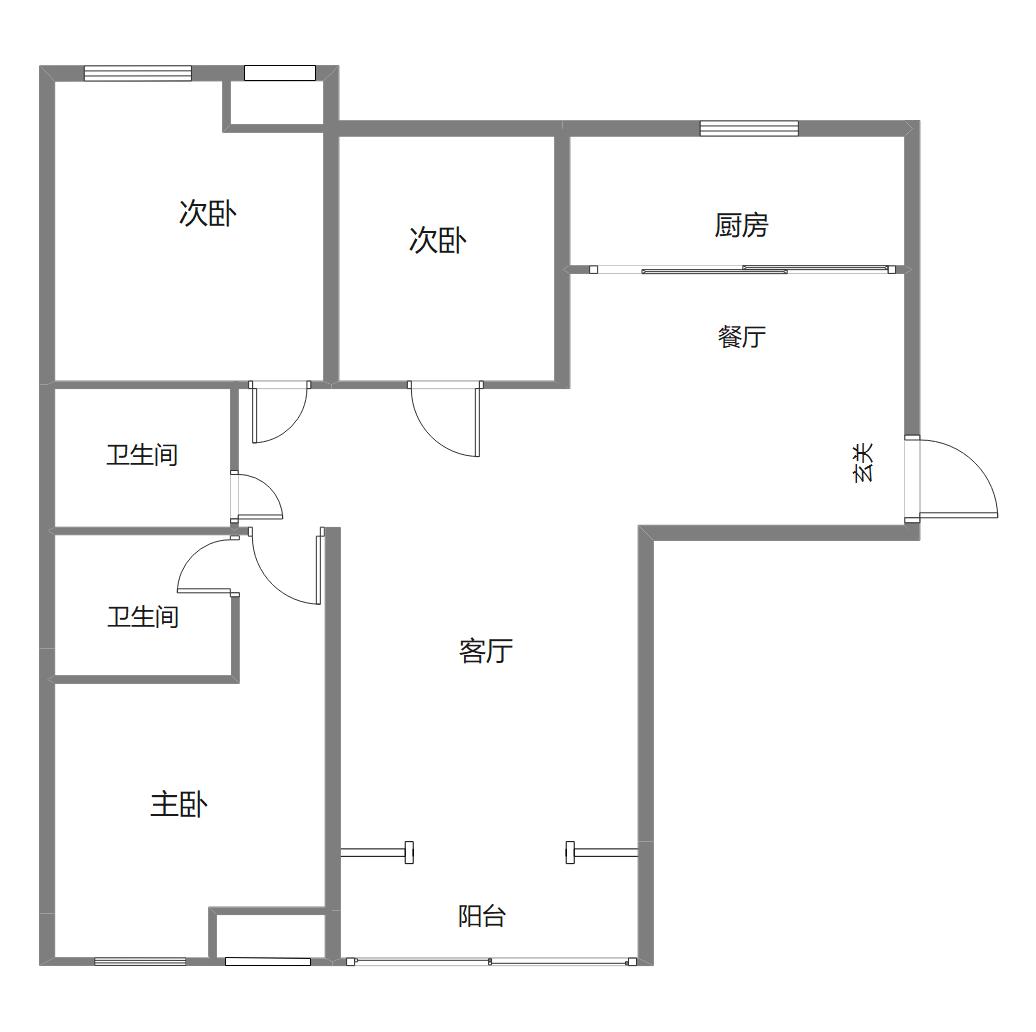 小区房型平面图