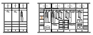 L型卧室衣柜内部结构图