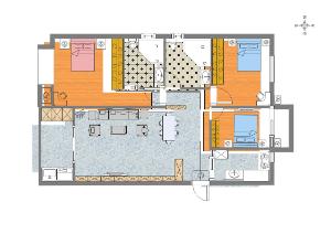 矩形户型室内平面布置图
