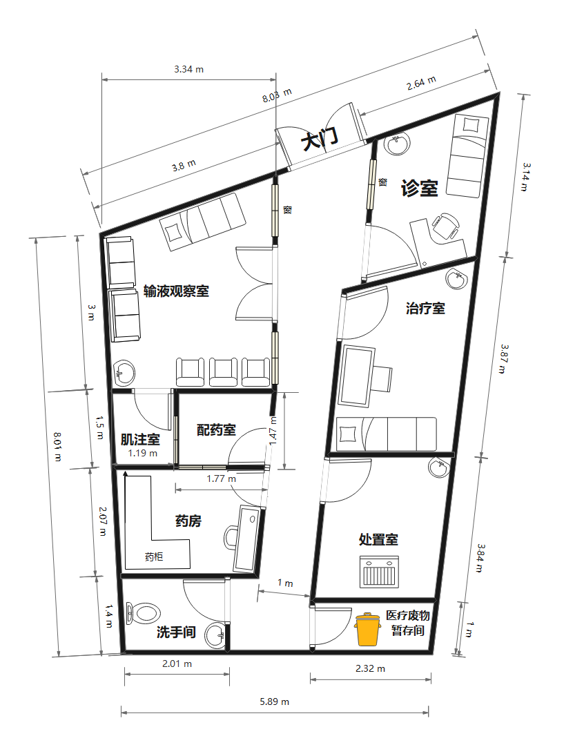 诊所规划平面图