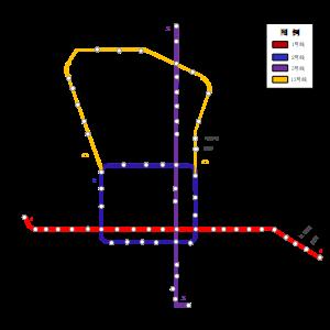 京城地铁示意图
