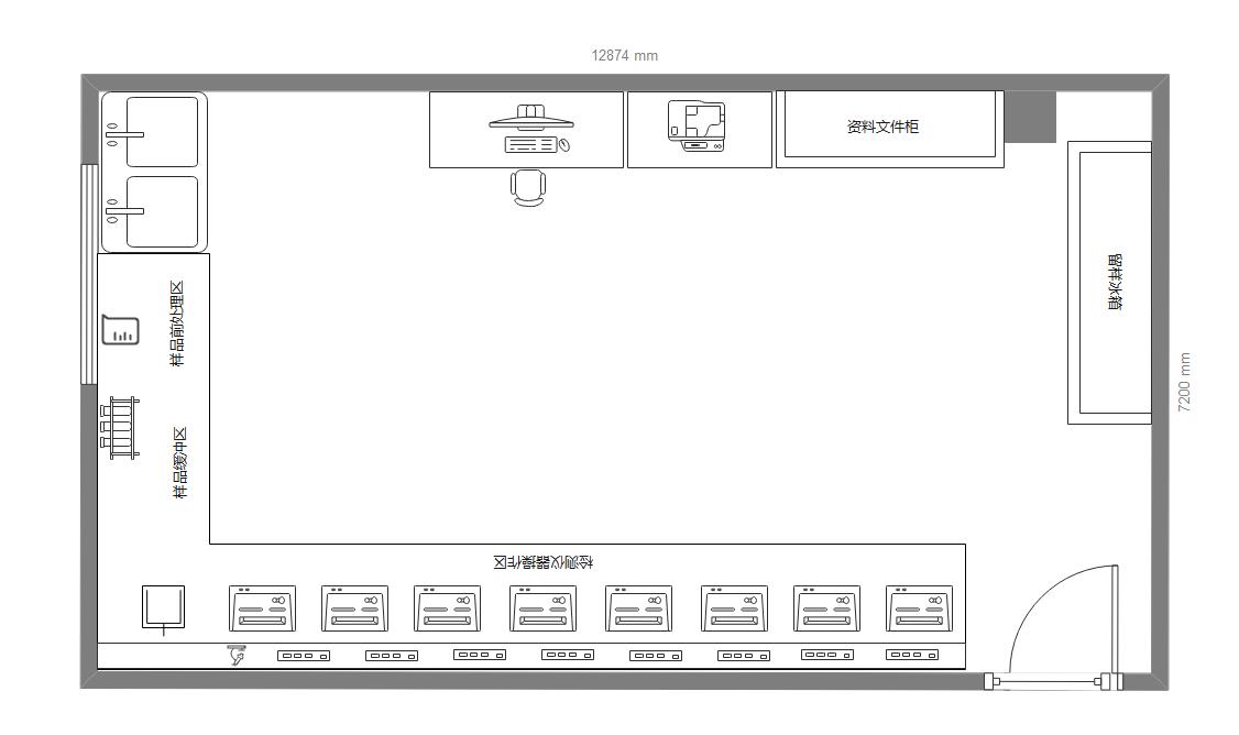 检测室平面图
