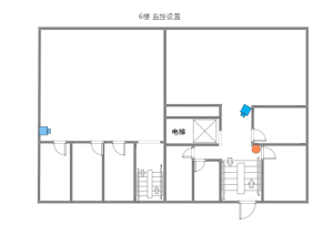监控示意图6楼