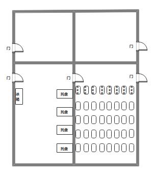 简单的厨房布局图