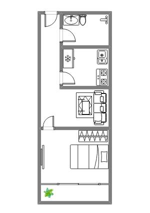 一室一厅布局图