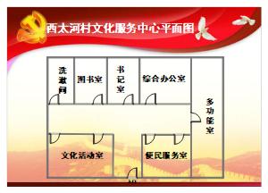 办公室设计布局图(文化服务中心)