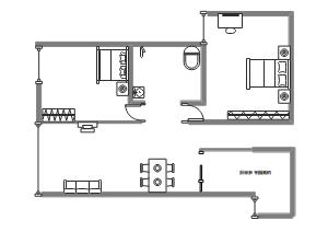 两室一厅布局图