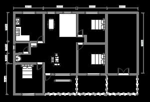 三室两厅平面布局图