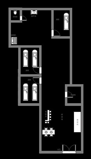 美容院平面图