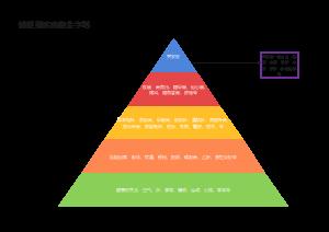 健康到疾病的金字塔