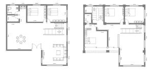 农村别墅1-2楼设计图