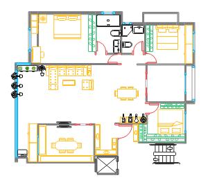 三室两厅布局图