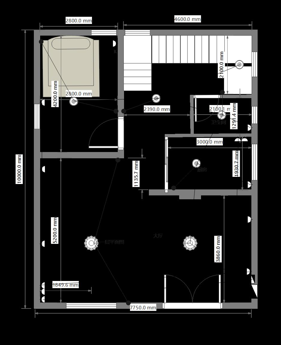 复式楼一层平面图
