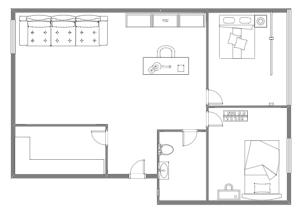 两室一厅家居布局图