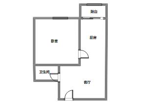 一室一厅平面布局图