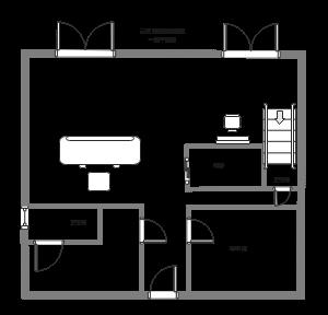 旅租一层平面图