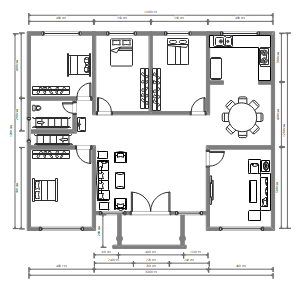 大户型房屋平面设计图