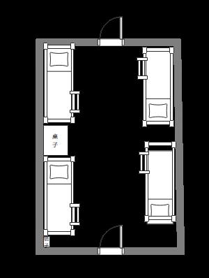 722宿舍平面图