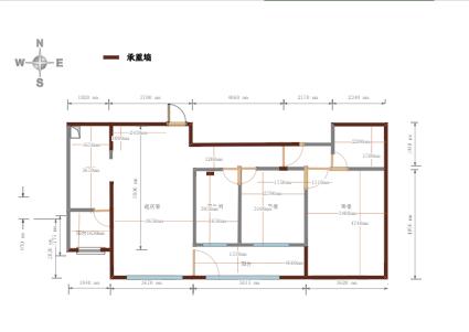 房屋原始结构平面图