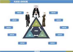 蓝色商务公司架构图