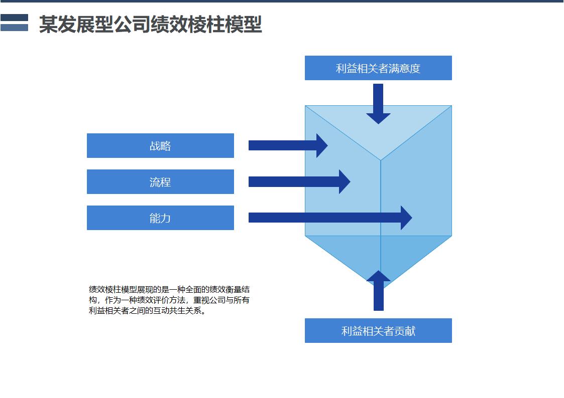 某发展型公司绩效棱柱模型