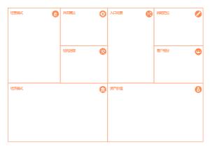 橙色商业分析画布