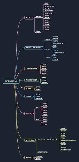 公司基本情况分析模板