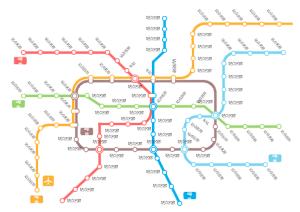 城市地铁线路展示图