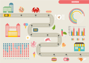 食品信息插画