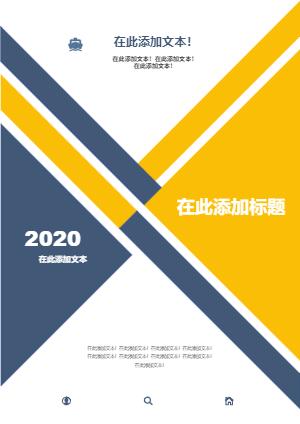 商务年度报告封面