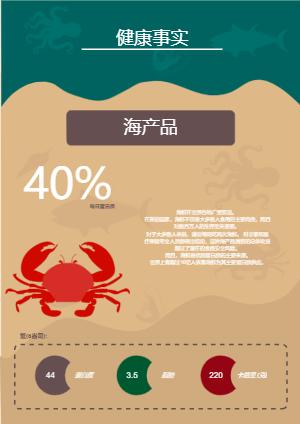 海鲜宣传册