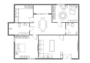 中型家居规划布局图