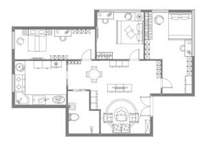 家庭家具布局图
